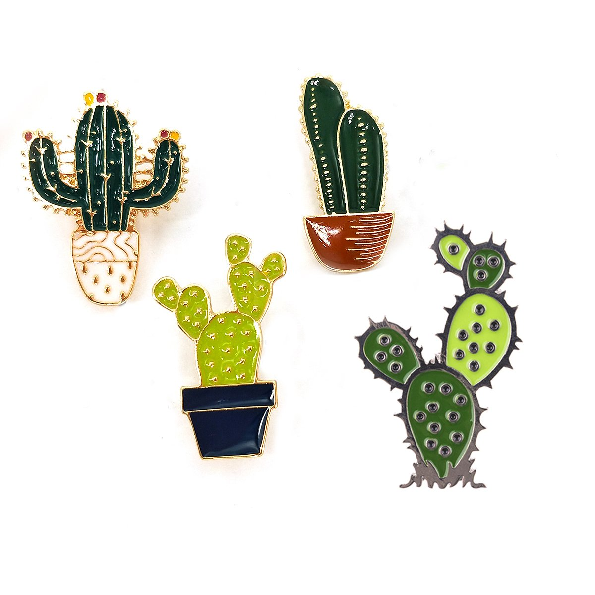 MeliMe Enamel Brooch Pin Floral Cactus Brooches Lapel Pins Badge for Women Girls Boys Jean Bag Clothes Decoration (Style 7)