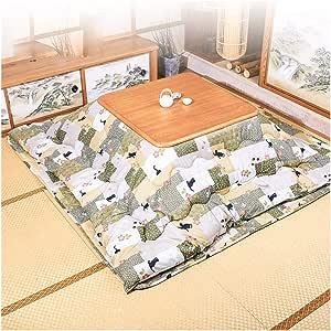 Mesa Japonesa Kotatsu con Calentador y Manta, edredón, Tatami ...