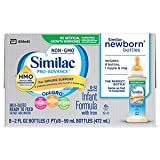 Similac Pro-Advance Infant Formula with 2'-FL HMO for Immune Support, Ready to Feed Newborn Bottles, 2 fl oz, 8 bottles (48 Count)