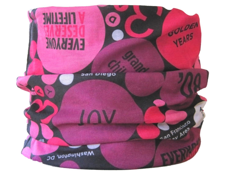 Braga para el cuello, pañuelo de microfibra multifunción, diseño de botones rosados wendywwoo