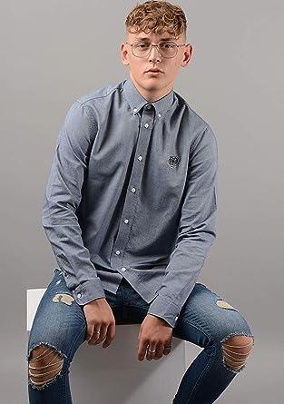 Kenzo Hombre 5CH4001LD Camisa Azul Marino - Azul, XL ...