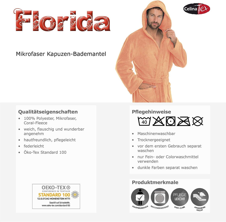 CelinaTex Montana Bademantel mit Kapuze XXXL wei/ß Baumwolle Morgenmantel Frottee Damen Herren Saunamantel