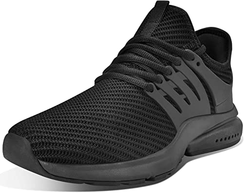 Troadlop Mens Sneakers Non Slip Running Shoes Lightweight Breathable Slip Resistant Athletic Sport Walking Gym Work Shoes