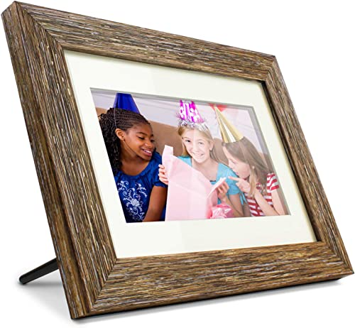 GiiNii SPF3483 G7 8 Digital Picture Frames Brown Black with White Mat