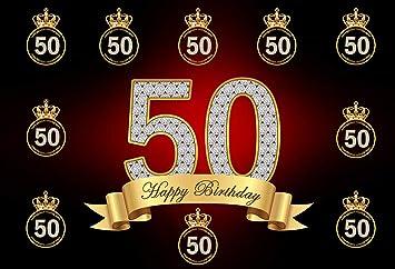 Amazon.com: Fondo de plata para 50 cumpleaños para hombre ...