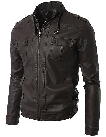Mens leather jacket on amazon