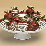 Shari's Berries - Full Dozen Gourmet Dipped Swizzled Strawberries - 12 Count - Gourmet Baked Good Gifts