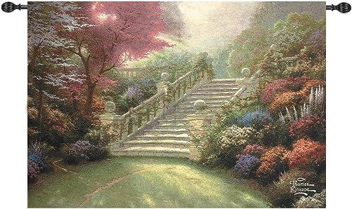 Manual Weavers Thomas Kinkade Stairway to Paradise Cotton Tapestry Wall Hanging 50 x 70