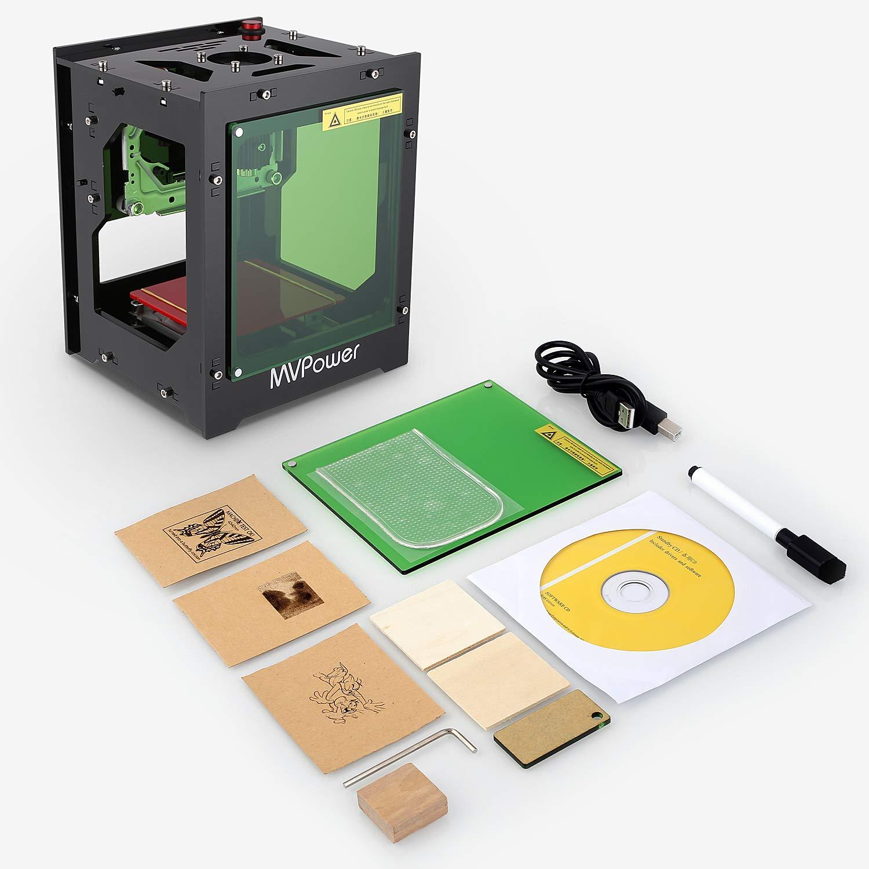 MVPOWER Laser Graviermaschine 1500mw Bluetooth Print Engraver Maschine f/ür win xp 7//8 //10 ios 9.0 Android 4.0
