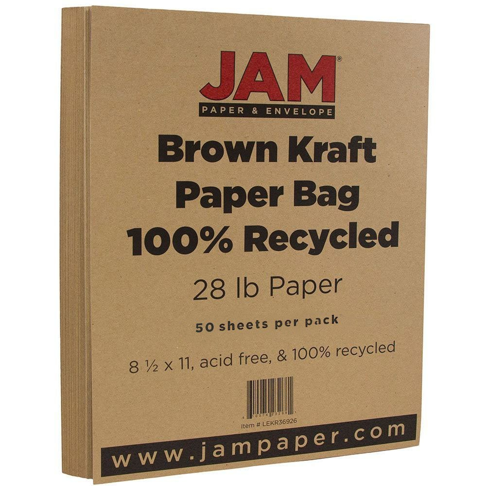 Amazon jam paper recycled paper 85 x 11 28 lb brown amazon jam paper recycled paper 85 x 11 28 lb brown kraft 50 sheetspack multipurpose paper office products magicingreecefo Gallery