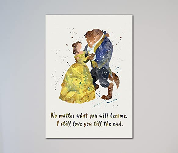 Amazoncom Beauty And The Beast Quote Belle Love Print Handmade