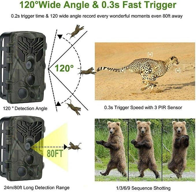 20MP 3G Wildkamera HC-810G Fotofalle Überwachungskamera GPRS 120° HD Jagdkamera*