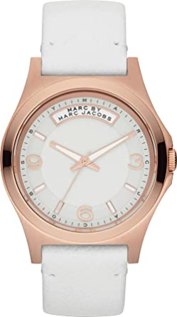 f435b4a2c Image Unavailable. Image not available for. Color: Marc by Marc Jacobs  MBM1260 Ladies White Baby Dave Watch