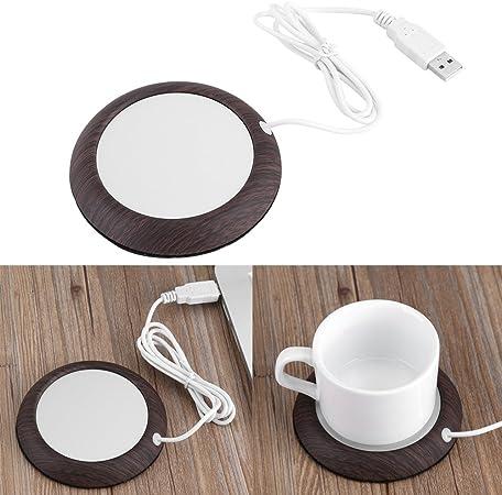 1# Zyyini Coussin Chauffant /électrique pour Tasse USB Chauffe-Tasses Tasse de Boisson Mat Tapis Bureau /à Domicile Bureau caf/é chauff/é th/é Tasse Pad