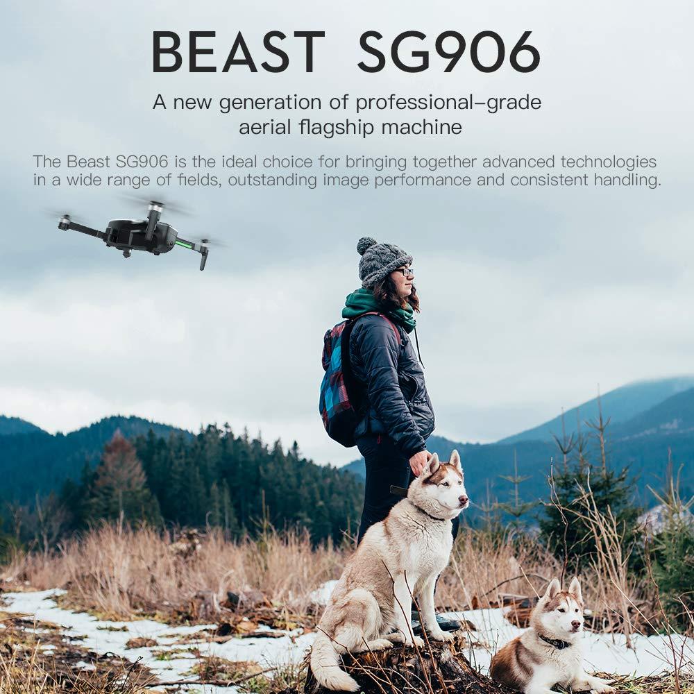 DishyKooker ZLRC Bestia SG906 GPS 5G WiFi FPV con 4K C/ámara Ultra Clara sin escobillas Selfie Plegable RC Drone Quadcopter RTF bater/ía black2