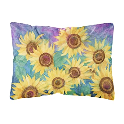 Caroline's Treasures IBD0247PW1216 Sunflowers and Purple Fabric Decorative Pillow, 12H x16W, Multicolor : Garden & Outdoor
