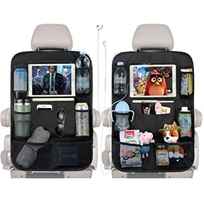 """PaiTree Upgrade Backseat Car Organizer for Kids with Charge Earphone Hole, 2PCS Car Backseat Organizers Included 11.8"""" Touch Screen Tablet Holder and 9 Storage Pockets, Kick Mats Car Seat Organizer: Automotive"""