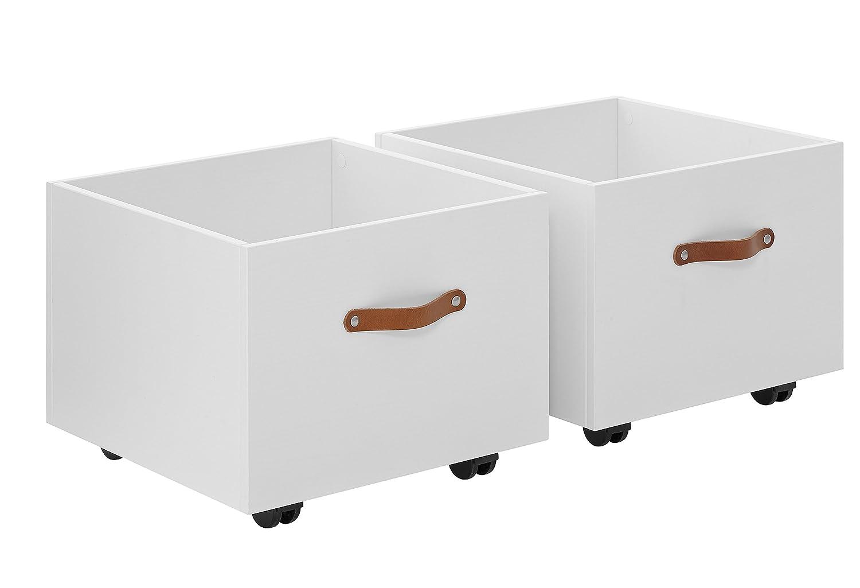 Lifetime Kid Rooms juguete caja sobre ruedas, 2 Juego Compatible con la cama Play, Learn  Sleep
