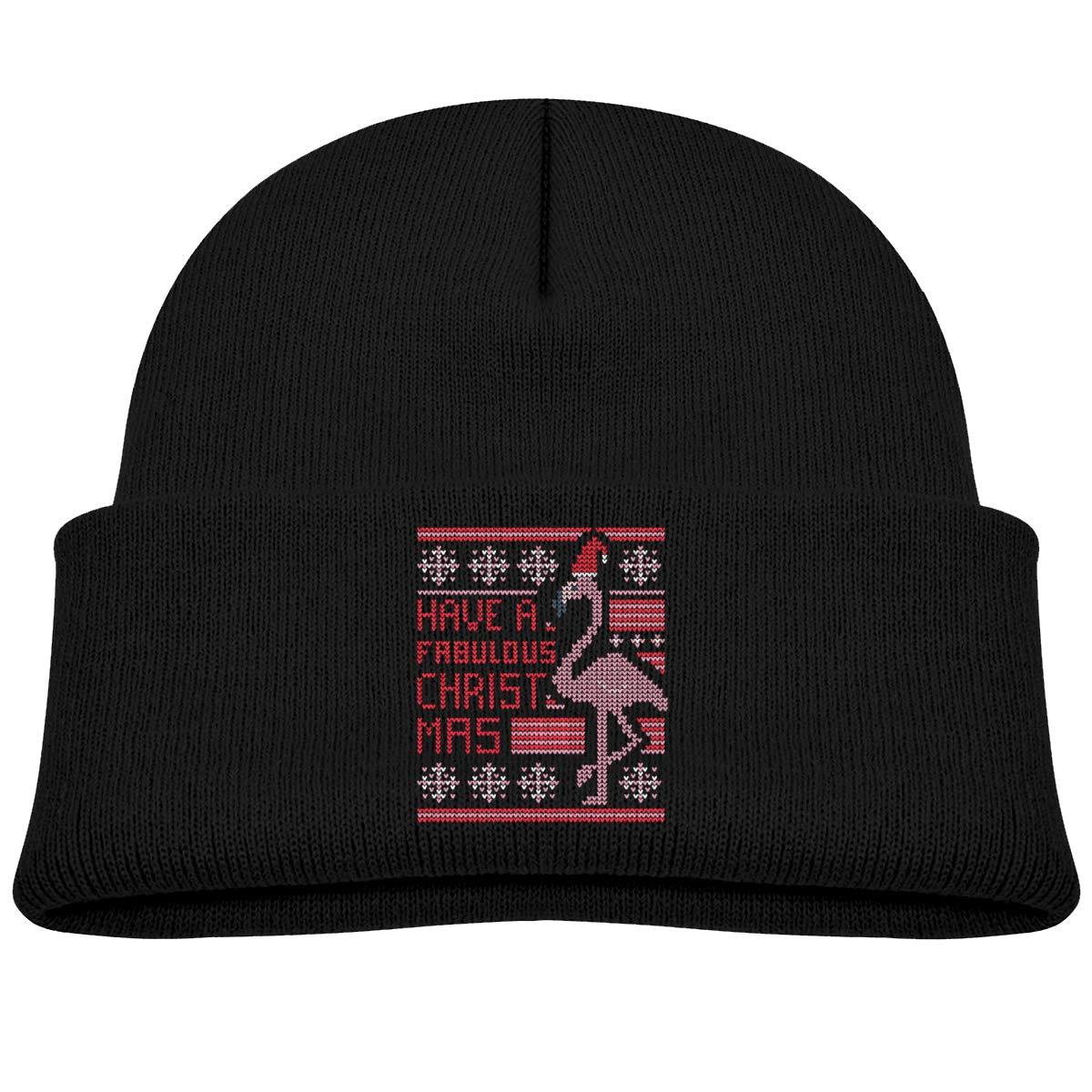 b0959efc60504 Amazon.com  Flamingo Christmas Sweater Infant Knit Hats Unisex Beanies Caps   Clothing