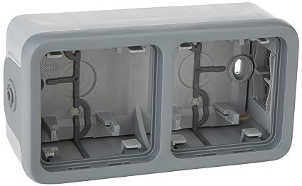 Legrand - 069661 caja saliente 2 mec. v gris plexo ii comp Ref. 6565140416: Amazon.es: Industria, empresas y ciencia