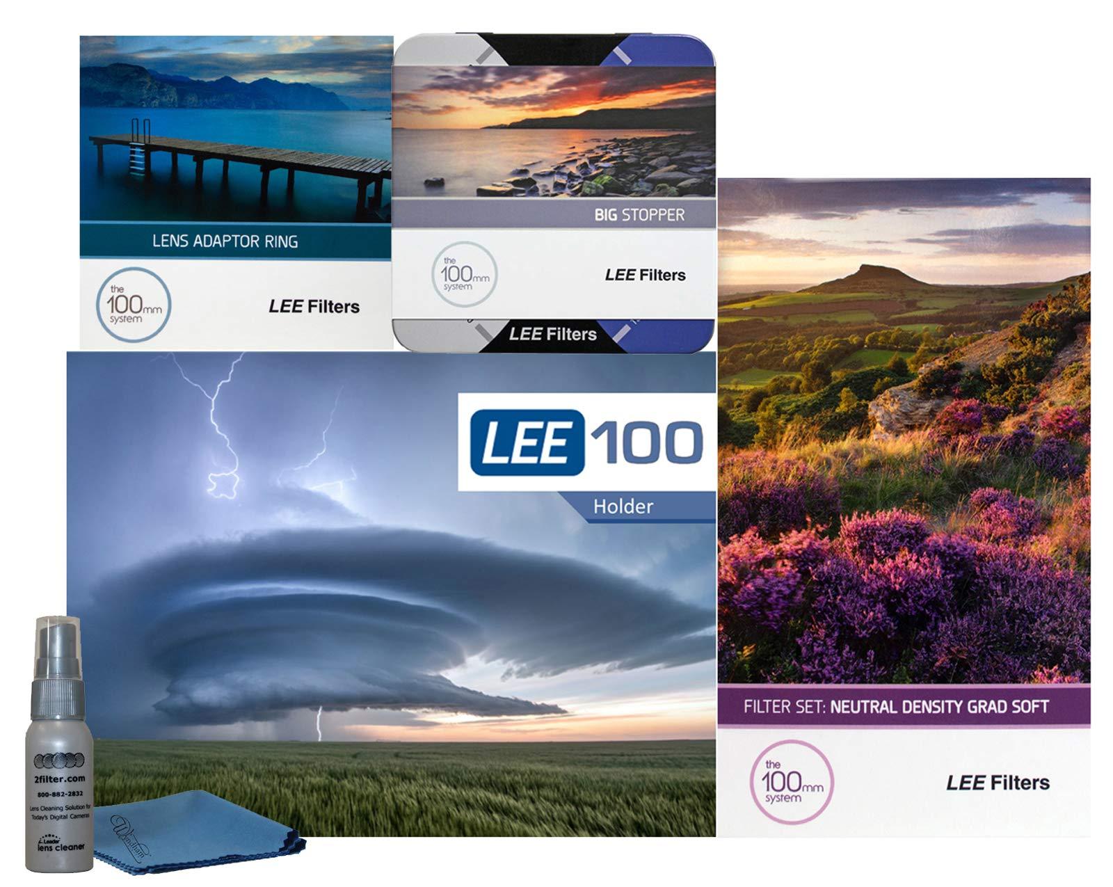 LEE Filters LEE100 77mm Landscape Starter Kit 1 - LEE Filters LEE100 Filter Holder, LEE 100mm Soft Edge Graduated ND Filter Set, LEE 100mm Big Stopper and 77mm Wide Angle Adapter Ring