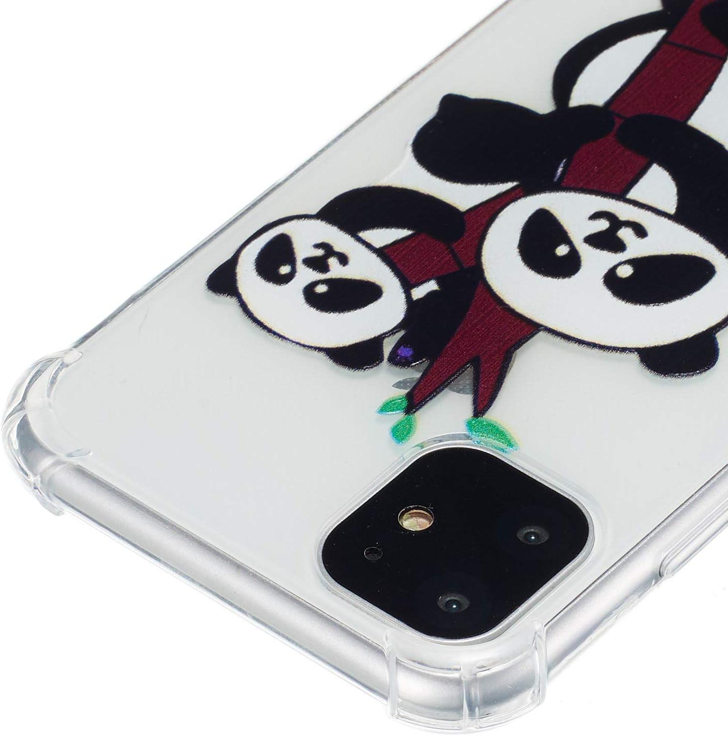 Cerf Flexible Plein-Corps TPU Bumper Housse Etui de Protection Boloker Coque Compatible iPhone 11 6,1 Pouces /Él/égant Peinture /à lhuile Motif /Étui en Silicone Souple avec Verre Tremp/é
