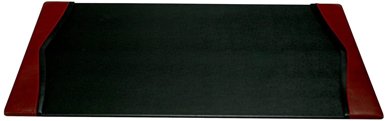 Dacasso Leather Side-Rail Desk Pad, Burgundy, 34 x 20-Inch P7001