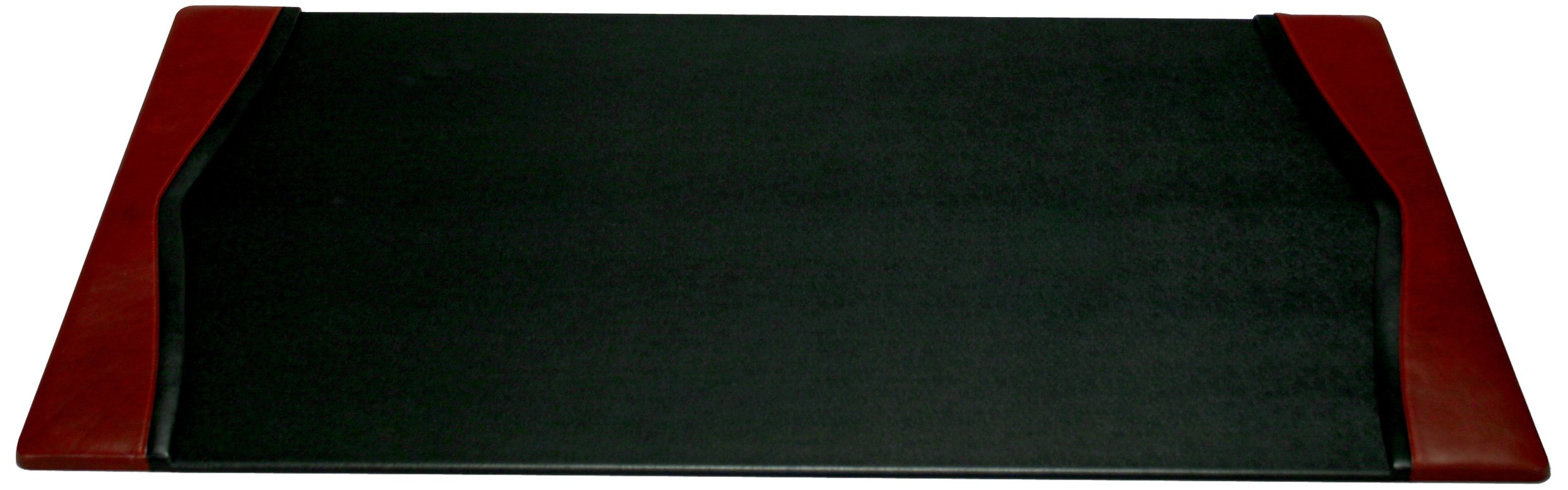 Dacasso Burgundy Desk Pad with Side-rails,34 by 20 Inch