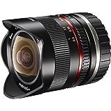 Walimex Pro 8 mm 1:2,8 Fish-Eye II CSC-Objektiv (für Sony E-Mount Objektivbajonett, manueller Fokus, IF, mit fester Gegenlichtblende) schwarz