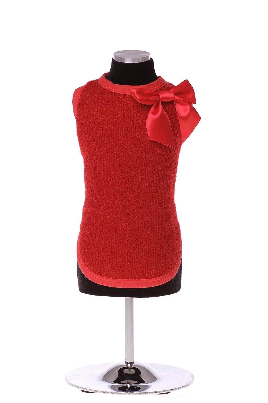 Trilly Tutti Brilli Bonnie Warm T-Shirt mit Schleife Pin, XS, rot