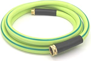 Atlantic Premium Hybrid Garden Hose 5/8 IN. x 15 FT. Working Under -4°F, Light Weight and Coils Easily, Kink Resistant,Abrasion Resistant, Extreme All Weather Flexibility (15 FT)