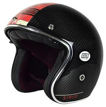 Origine Helmets 202587017500703 Sirio Style Flower Casco Jet de fibra de carbono, Negro, ...