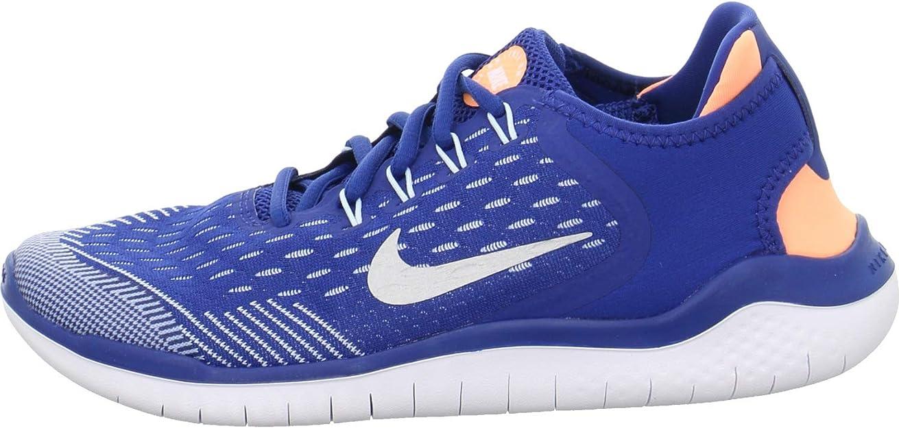 Nike Free RN 2018 (GS), Zapatillas de Running para Mujer, Multicolor (Gym Blue/Metallic Silver/Cobalt Tint 403), 38.5 EU: Amazon.es: Zapatos y complementos