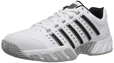 fbb480bc91e K-Swiss Men s Bigshot Light Tennis Shoe White Black Silver 7 ...