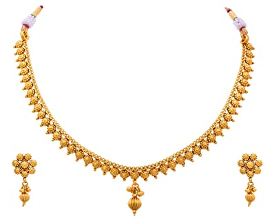 Amazon Com Jfl Traditional Ethnic One Gram Gold Plated Delicate