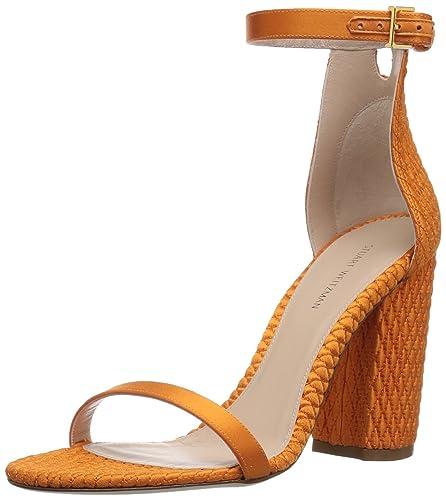 b5ac49bbc06fe Amazon.com: Stuart Weitzman Women's NUQUILT Heeled Sandal: Shoes
