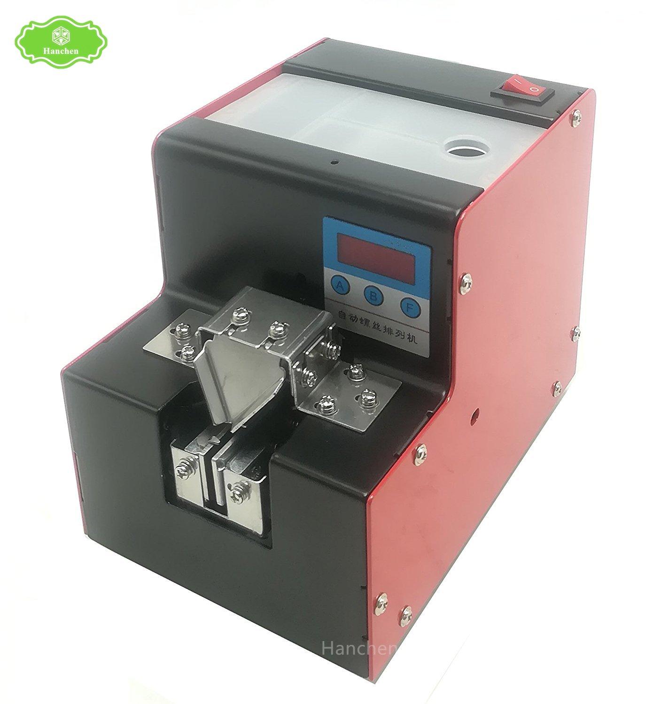 Hanchen M1.5-M3.5MM 自動ねじ供給マシン デジタルねじ配列マシン ネジフィーダ 自動ドライバー 軌道調整可能 (110V) B078TFSK9D 110V