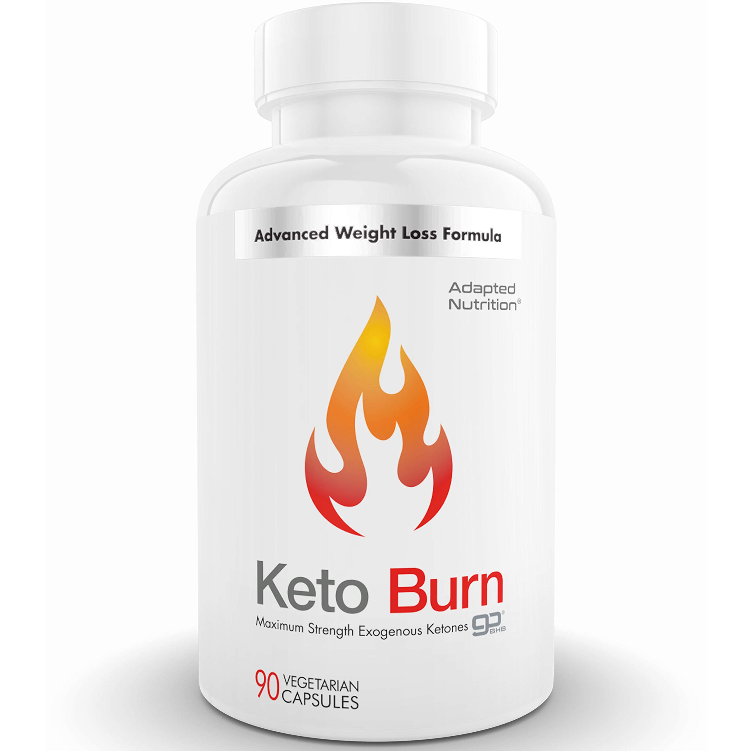 Keto Burn Exogenous Ketone Capsules with 2200mg BHB | Perfect for Ketogenic Diet & Weight Management | Boost Energy, Focus and Ketosis Beta-Hydroxybutyrate Salt Pills by Adapted Nutrition
