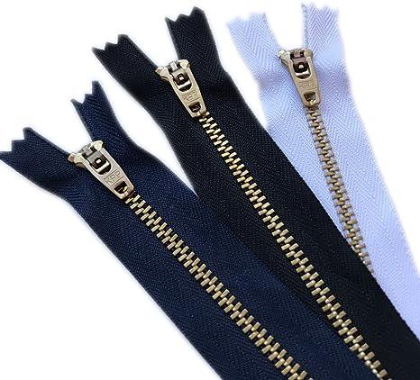 YAKA 20pcs Jeans Zippers Black Zippers Brass Black 4 inch by YAKA