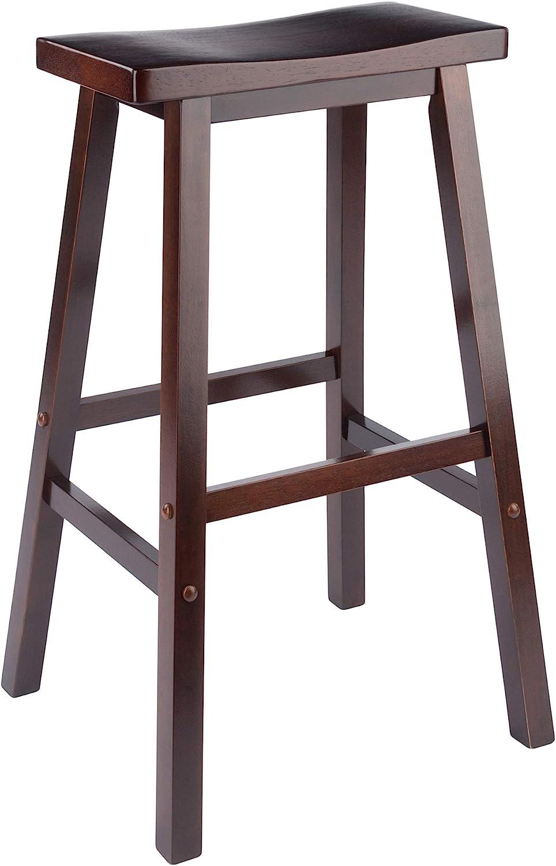4. Winsome Wood Saddle Stool