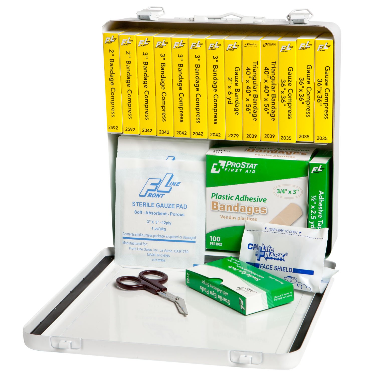 ProStat First Aid 0603 158 Piece 24 Unit School Bus First Aid Kit with Steel Case