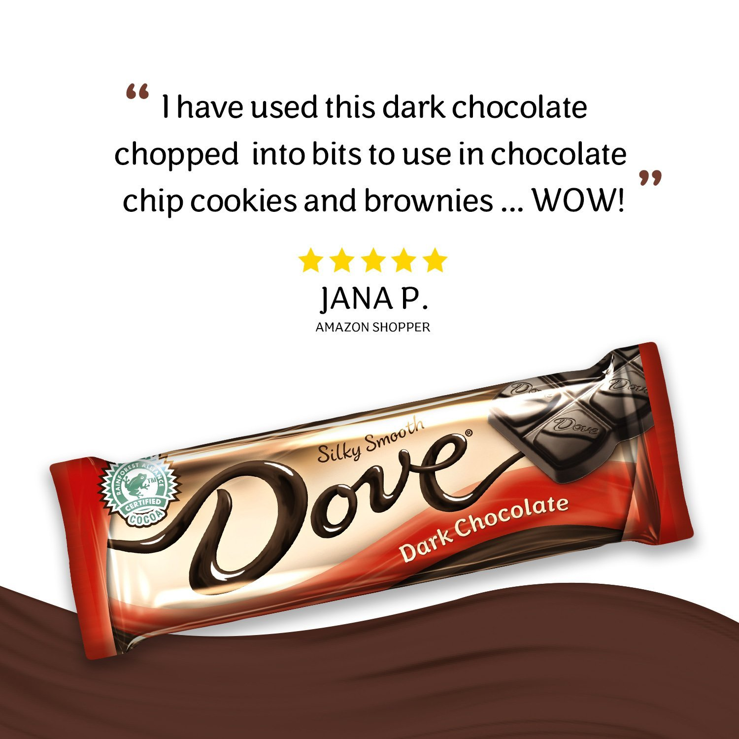 Amazon.com : DOVE Dark Chocolate Singles Size Candy Bar 1.44-Ounce ...