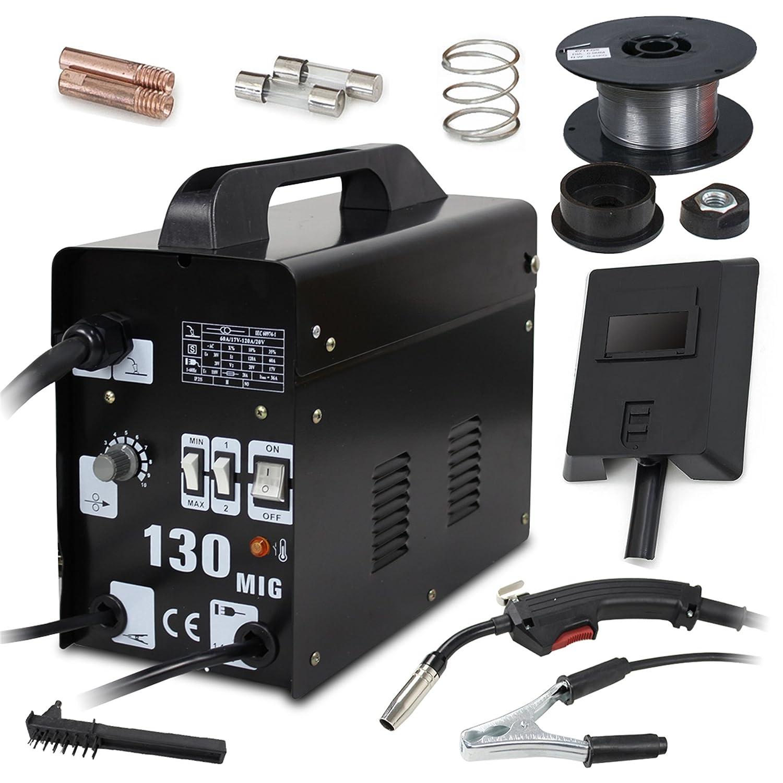 F2C AC Power Auto Feeder Mig 130 Gas-less Flux Core Wire Welder ...
