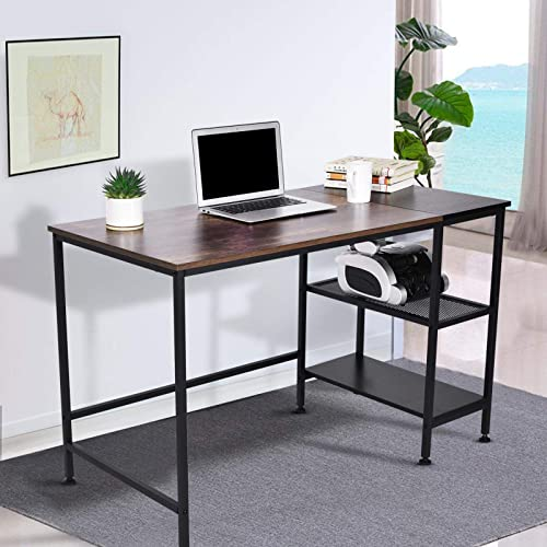 Icefei 47 inch Industrial Rustic Office Desk,Vintage Wooden Computer Desk