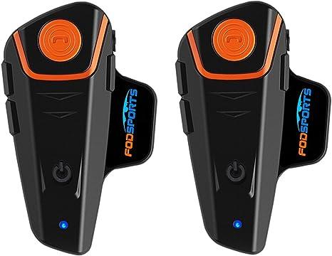 3 Packs BT-S3 Motorrad Intercom 1000M Helm GPS-Musik Neueste Version Wireless
