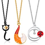 Ralukiia 3pc Ladybug and Cat Noir Cosplay Necklace Maui Fish Hook Jewelry Holloween Costume Prop Accessories for Boy…