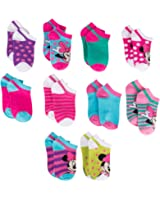 Disney Girls Socks Minnie Mouse No Show 10 Pack