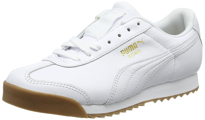 Puma Roma Classic Gum, Zapatillas Unisex Adulto 38 EU|Blanco (Puma White-puma Team Gold 1)