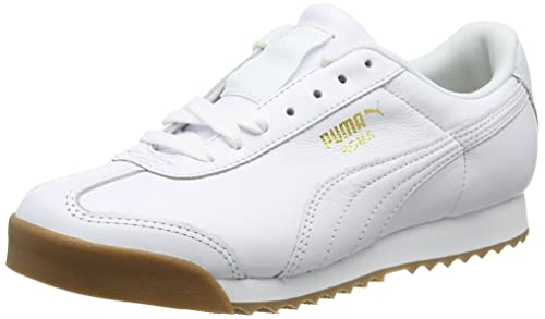 68b8457557f7 Puma Unisex Adults  Roma Classic Gum Low-Top Sneakers  Amazon.co.uk ...