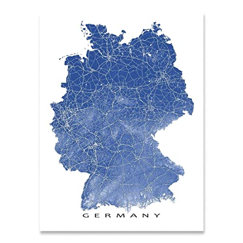 Country Of Germany Map.Amazon Com Germany Map Print Country Art Wall Decor Deutschland
